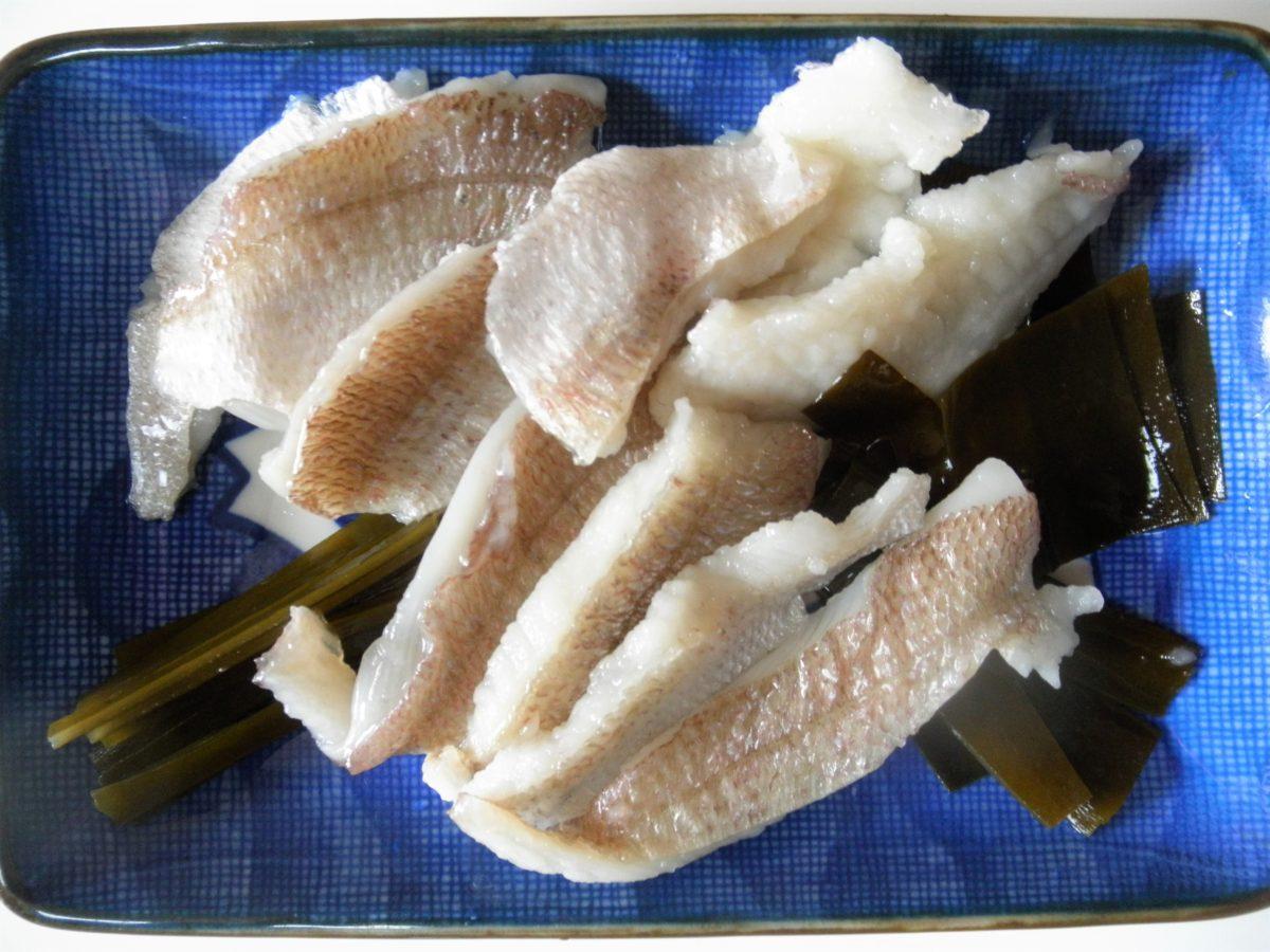 釣れた小鯛を酢漬けにしました